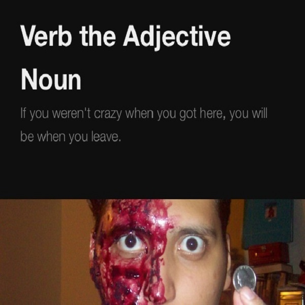 Podcast – Verb the Adjective Noun